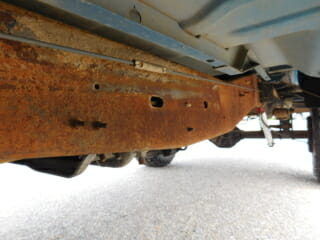 Underneath Car Before
