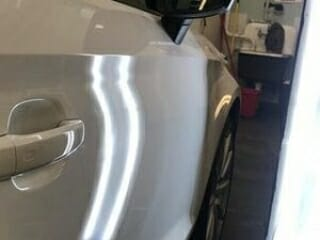 White Paintless Dent Repair