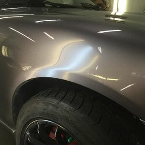 Silver Car Paintless Dent Repair