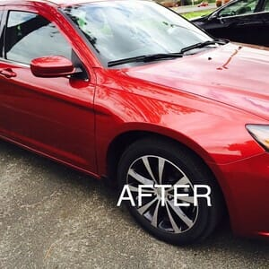 Red Car Paintless Dent Repair